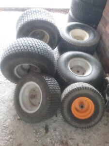 Collection of tires for riding mower