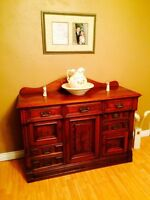 Antique Solid Oak Sideboard in Excellent Condition