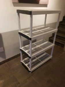 Plastic shelving   great condition