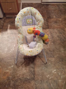 $15 - Bouncer Chair with attachable toy, Harness,washable,etc