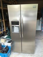 Frigidaire stainless side by side fridge