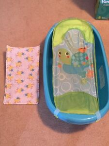 Infant bath tub and sling