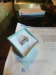 Ladies .75ct. Solitaire, Dia. ct. Eng. Ring Set, making a great