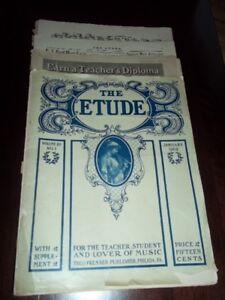 """PARTITIONS """"THE ETUDE"""""""
