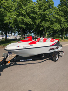 2010 Seadoo Speedster 150 (155 HP) Red with Trailer | Powerboats