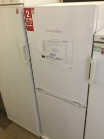 NEW White fridge freezer 55cm wide , 152cm high , 61cm deep,