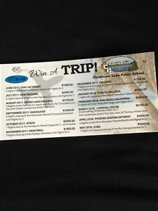 WIN A TRIP A MONTH FOR A YEAR