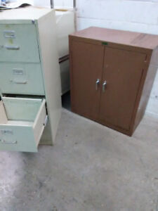 4 Drawer Filing cabinet legal size, Double door storage cabinet