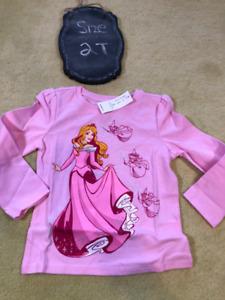 Brand New Disney Princess Aurora long Sleeve Top - NWT - 2T