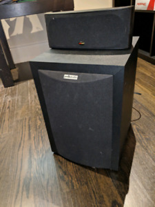 Polk Home Theatre RM6750 - Sub woofer and center speaker