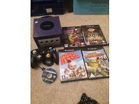 Purple GameCube Nintendo console
