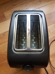 Black and stainless steel toaster Century brand