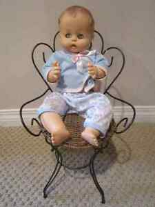 Old Fashioned Wicker and Metal Doll Chair Regina Regina Area image 3