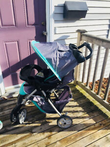 Car seat and stroller combo (base also)