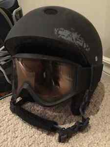 Snowboarding helmet with goggles $20 each