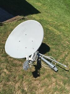 Internet satellite dish and modem