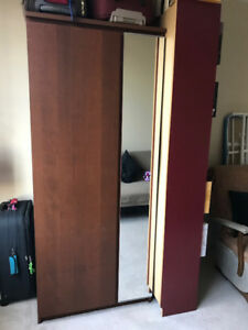 Solid Wood Wardrobes with mirror  for Sale