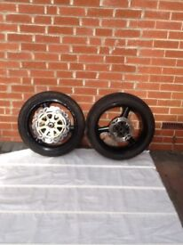 Kawasaki zx9r set of wheels