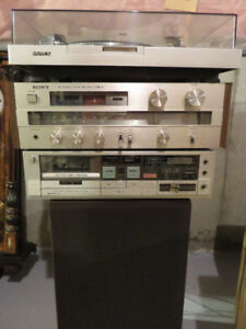 Antique Sony Music Centre -Gramophone, Cassette player, Receiver