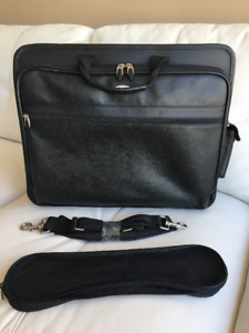 Targus Black Leather Laptop Bag