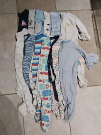6 to 9 month sleepsuit bundle.