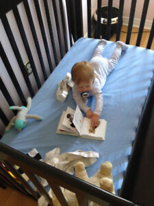 Convertible crib/toddler bed/double bed.