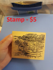 Wooden and acrylic stamps for card making or scrapbooking