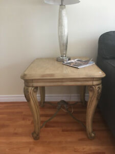 Solid wood coffee table, sofa table and two end tables