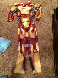 Boys iron man size 6 costume for sale