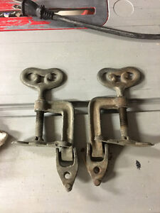 Pair of very interesting hold down clamps