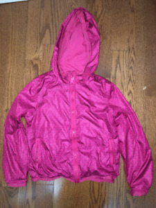 Girls size 8 old navy waterproof/jersey lined windbreaker EUC