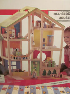 Educo Wooden Doll House - New In Box never opened!!