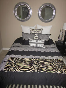 Double Bed - Mattress + Box Spring and Steel Frame