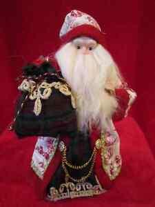 Santa Clause doll figure figurine for Christmas decor.Cloth,mixe Regina Regina Area image 1