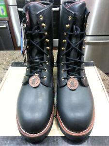 "Chippewa Men's 8"" Insulated Waterproof Steel Toe Logger Boots"