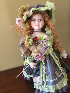 Limited edition collector porcelain doll