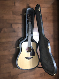 Yamaha Acoustic Guitar (FG700MS) + Hard Shell Case