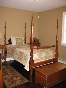 Antique four poster single bed