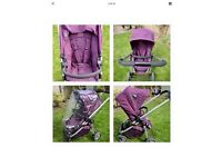 ICANDY CHERRY Complete Travel System MULBERRY Buggy Carrycot Purple Pushchair