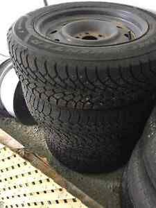 GoodYear Studded Winter Tires & Rims 215 65 17