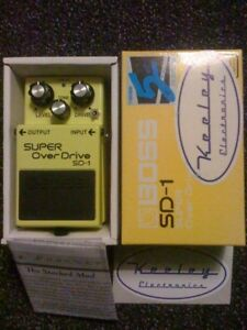 Pedale boutique Keeley (mod) Boss SD-1 Super overdrive