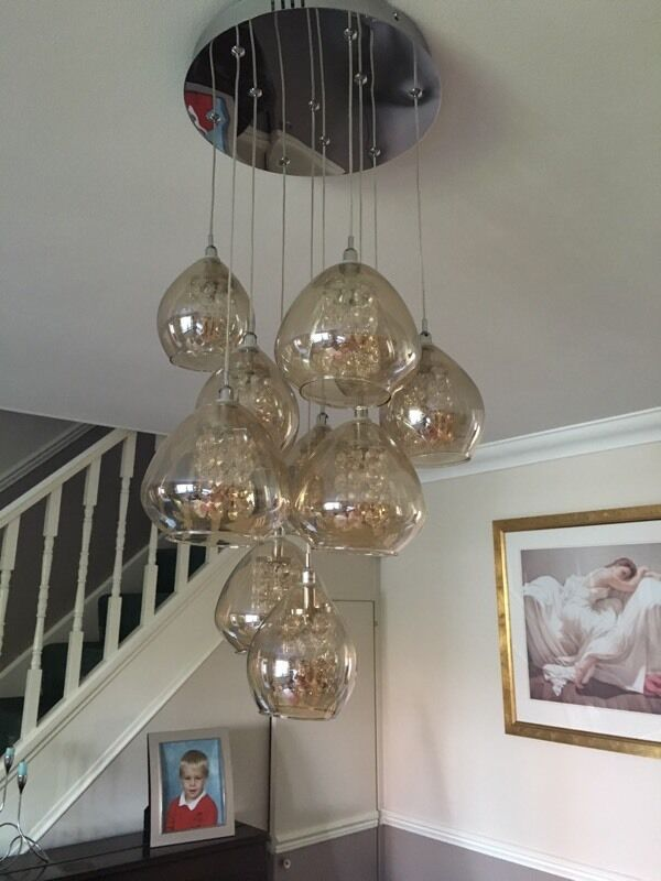 Next Bella 10 Light Cluster Pendant In Hengoed