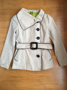 Soia & Kyo Short Trench Belted Jacket - Size XS
