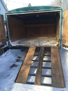 Enclosed ATV/sled trailer