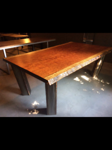 Custom African Bubinga Hardwood Dining Table