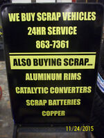 24HR Scrap car pick up.&Free service.Buying Converters,Alum rims