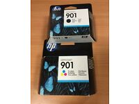 Genuine HP Officejet ink cartridge 901 pack (black and tricolour)