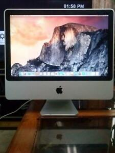 "Apple iMac All in One 20"" inch 4gig Ram 500gb Hard Webcam $299 Only"""