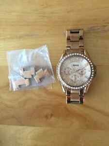 Fossil Brand Rose Gold Watch