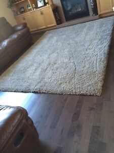 Brand New Light Grey/Silver Large Shag Rug. Made in Belgium.